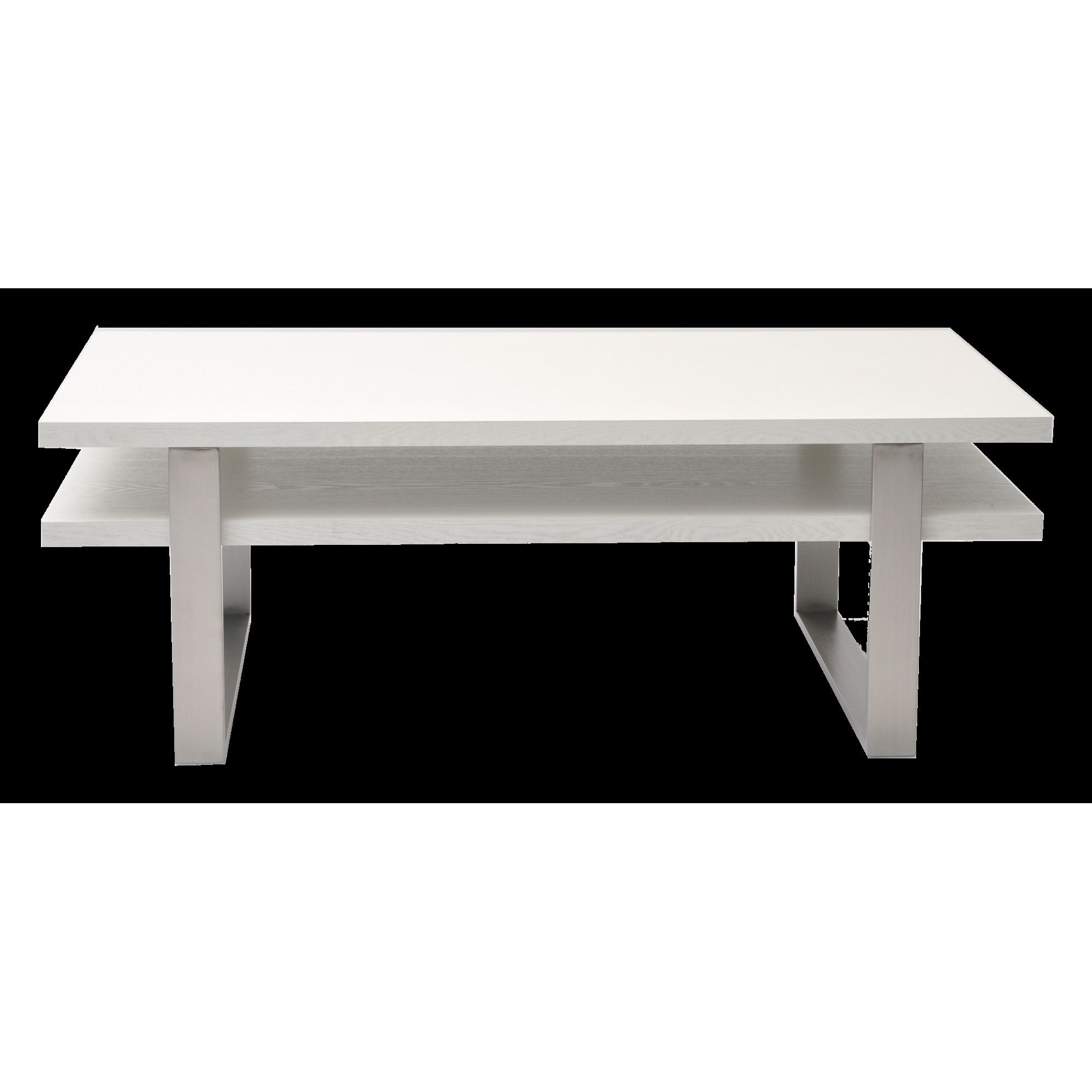 RGE Steel Coffee Table - Veneer White at Tesco Direct