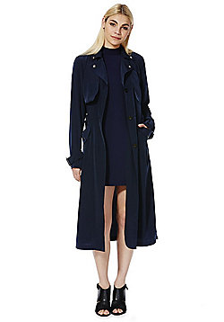 First & I Trench Coat - Navy