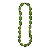 Jellystone Stepping Stone Teething Necklace in Peapod