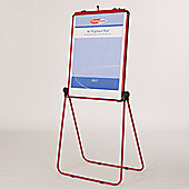 Metroplan Ultimate Loop Leg Flipchart Easel - Red