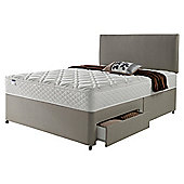 Silentnight Miracoil Luxury Micro Quilt 4 Drawer Double Divan Mink with Headboard
