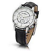 Kennett Savro Ladies Leather 24 hour Chronograph Watch LWSAVWHSILBK