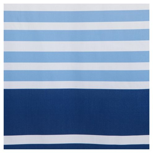 Nautical stripe shower curtain blue from our shower curtains amp shower