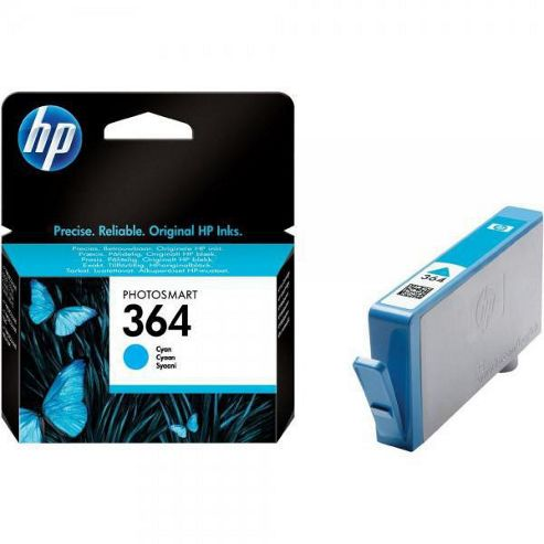 HP 364 Photosmart Ink Cartridge with Vivera Ink - Cyan