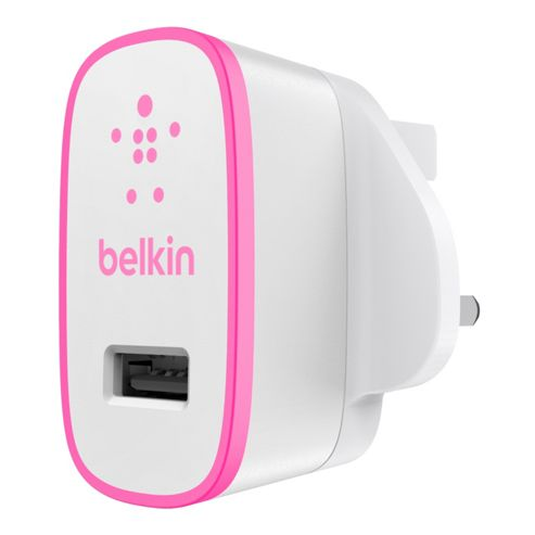 Belkin MixIt Range USB AC Wall Charger 2.1amp in Pink
