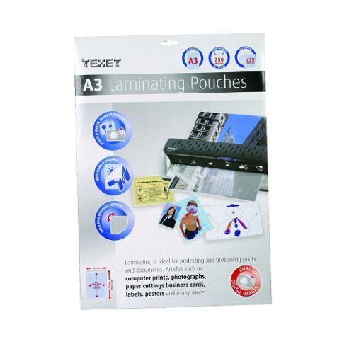 A3 Laminating Pouches 25 Pack