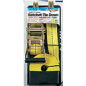 35mm-5metre Length H/Duty Ratchet Tie Down with J Hooks