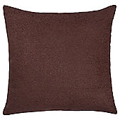 Texture Chenille Cushion Chocolate Large