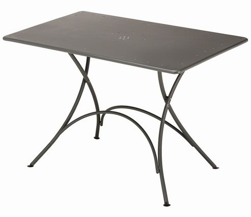 emu Pigalle Folding Rectangular Table - Antique Iron