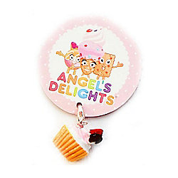 Children's Iced Red Bow Cupcake Clip on Charm