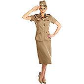 American G.I. Lady - Adult Costume Size: 18-20