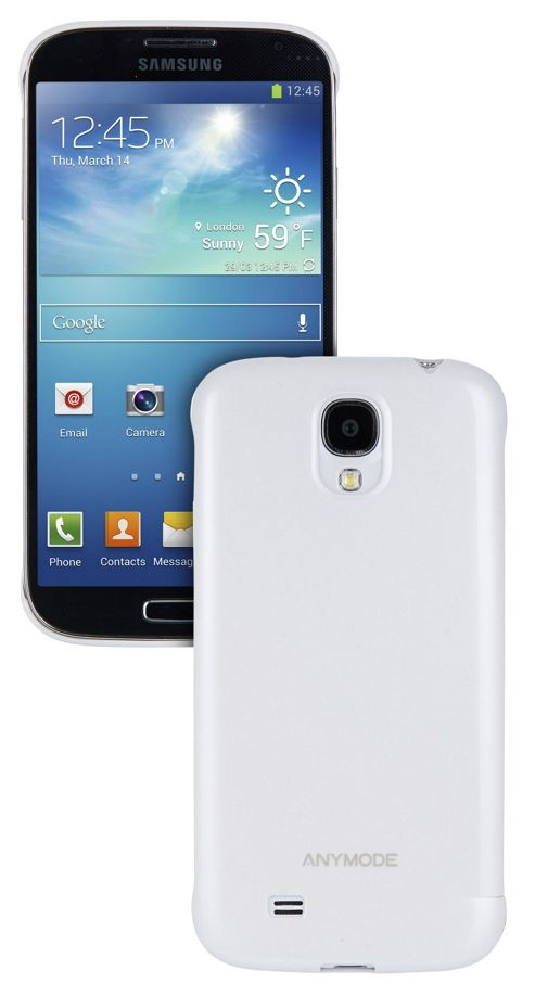 Anymode Samsung Elite Hard Case for Samsung Galaxy S4 - White