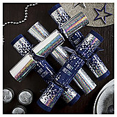 Silver and Blue Christmas Crackers,6 pack