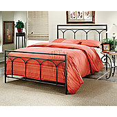 "MetalBedsLtd Kent Bed Frame - Black - Double (4' 6"")"