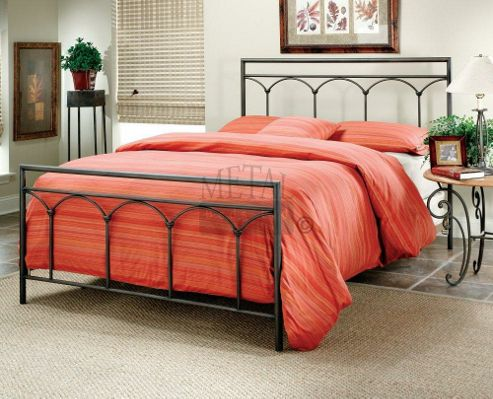 MetalBedsLtd Kent Bed Frame - Black - Double (4' 6