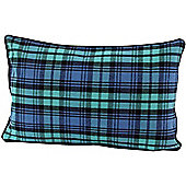 Homescapes Cotton Black Watch Tartan Scatter Cushion, 30 x 50 cm
