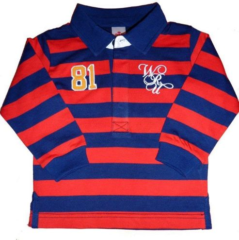 Wales Wru Classic Rugby Shirt - Navy & Red - Blue & Red