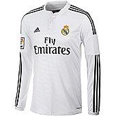 2014-15 Real Madrid Adidas Home Long Sleeve Shirt - White
