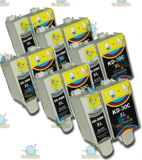 6 Sets of Kodak 30 XL (30B + 30CL) Compatible Ink Cartridges for ESP & Hero Printers