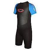 Childs Shortie 2.5mm Black/Blue Age 11/12