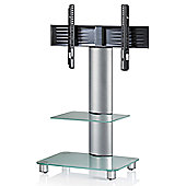 VCM Tosal TV Stand - Silver Brushed / Frosted