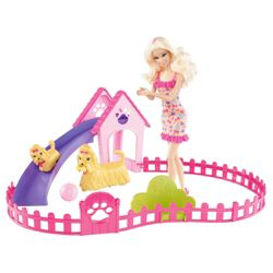 Barbie Puppy Play Park Play Set & Doll