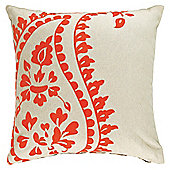 F&F Home Paisley Devore Cushion, Orange