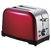 Tesco 2 Slice Stainless Steel Toaster - Red