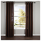 Plain Canvas Eyelet Curtains W117xL183cm (46x72''), Choc