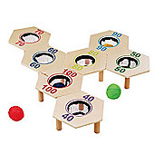 EverYoung Bag Toss Game Natural Wood Toy 4-99 years