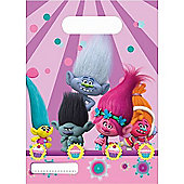 Trolls Plastic Party Loot Bags (6 Pack)