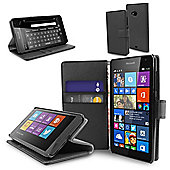 Orzly Multifunctional Wallet Case for the Nokia Lumia 535 - Black