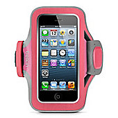 Belkin Neoprene Slim Fit Armband for iPhone 5 in Pink and Purple