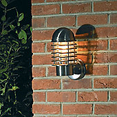 Endon Lighting Caged Wall Lantern in Stainless Steel