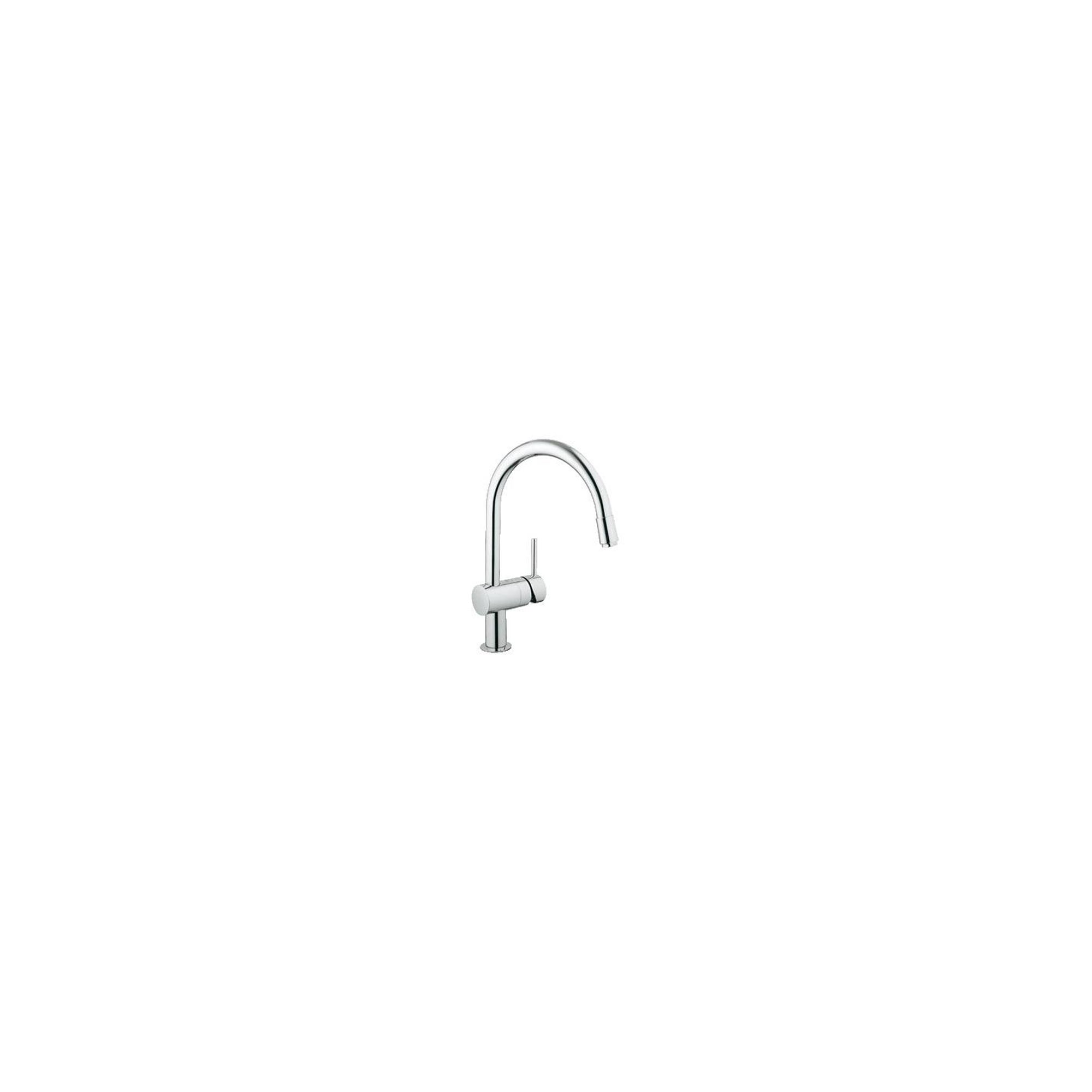 Grohe Minta Mono Sink Mixer Tap, Pull-Out C-Spout, Single Handle, Chrome at Tesco Direct