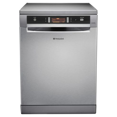 Hotpoint FDUD43133X Fullsize Dishwasher, A Energy Rating, Silver