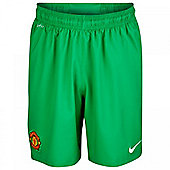 2013-14 Man Utd Home Nike Goalkeeper Shorts (Green) - Green