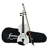 Forenza Uno Series Full Size White Violin Outfit