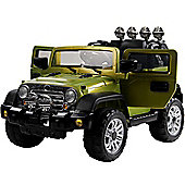 12V Jeep Style Ride on Car Green