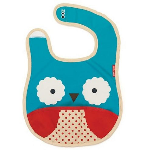 Skip Hop Zoo Tuck Away Bib Owl
