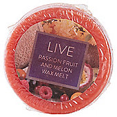 Tesco Passion fruit and melon wax melt