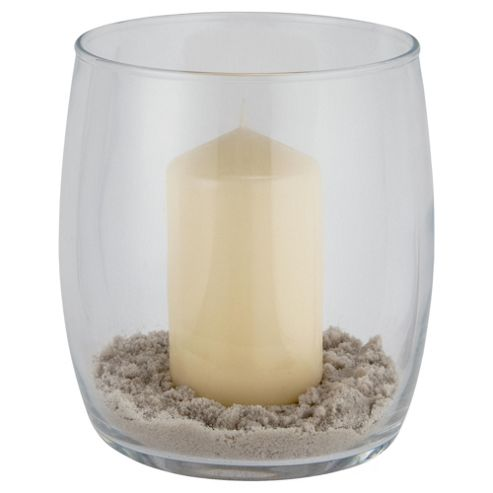 Tesco Hurricane Clear with candle