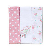 Mothercare Little Lane Muslins - 3 Pack