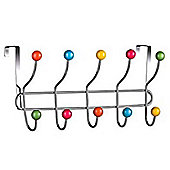 Sputnik - Over Door 10 Hook Rack - Multi-coloured