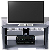 Stil-Stand Bow End TV Stand - High Gloss Black