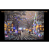 Thomas Kinkade Memories of Christmas Illuminated Hanging Tapestry