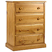 Kelburn Furniture Pine 4 Drawer Chest
