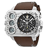 Timberland HT3 Mens Leather Chronograph Date Dual Time Watch 13673JS-02