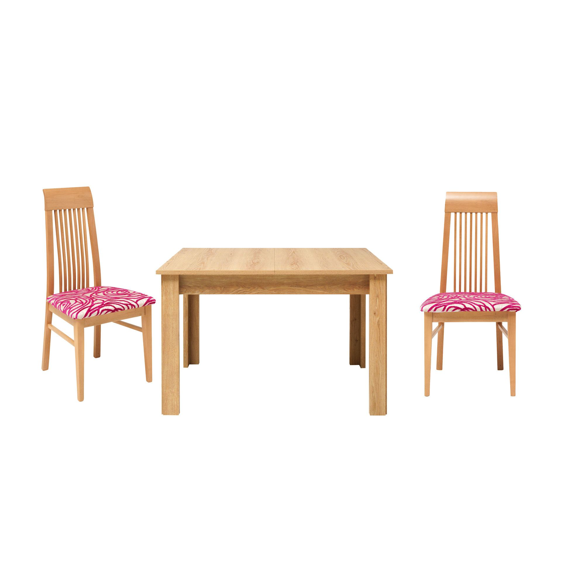 Caxton Darwin Dining Table Set with 6 Slatted Back Chair in Chestnut at Tesco Direct