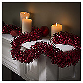 Festive 2M X 125Mm Pure Luxury Loop Tinsel Red